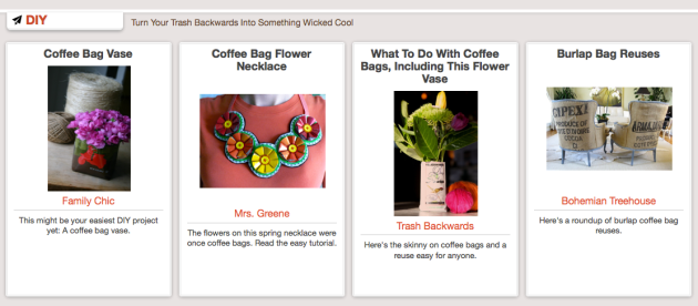 Click Through For Coffee Bag Reuses at Trash Backwards!