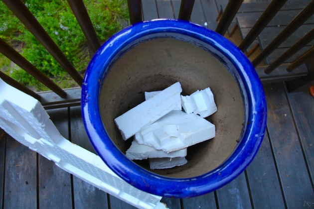 Styrofoam Planter Filler, Photo: Liesl Clark