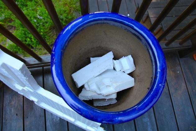 Styrofoam Planter Filler, Photo: Liesl Clark