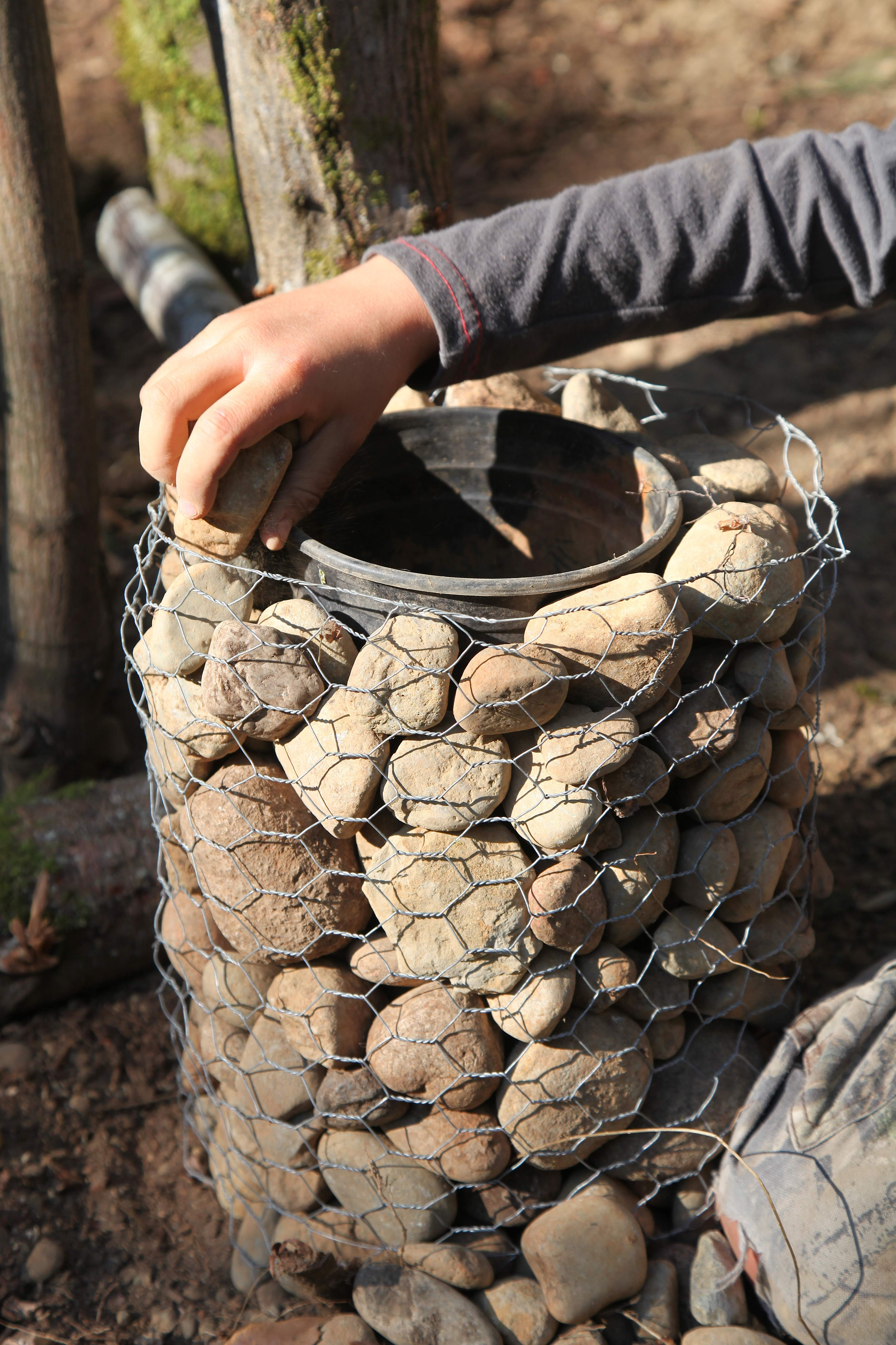 Diy Stone Pillars Amp Planters Pioneering The Simple Life
