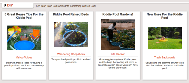 Click Through For More Kiddie Pool Reduce, Reuse, Recycle Ideas