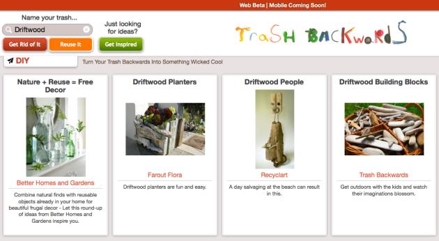 Click Through for Driftwood Reuses at Trash Backwards