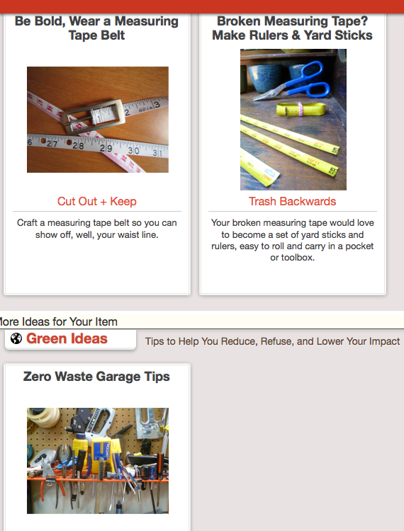 Click Through For Broken Measuring Tape Reuses or Solutions at Trash Backwards