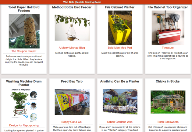 Click Through to Browse Farm and Garden Upcycling Ideas at Trash Backwards