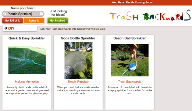 Click Through for DIY Sprinkler Ideas at Trash Backwards