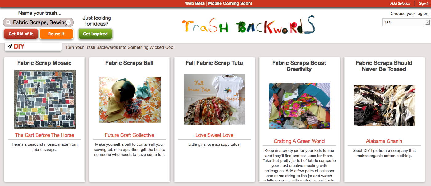Click Through for Fabric Scrap Reuses at Trash Backwards.