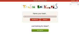 Trash Backwards Web App Home Page