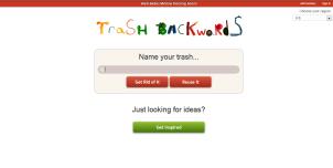 Trash Backwards Web App Home Page