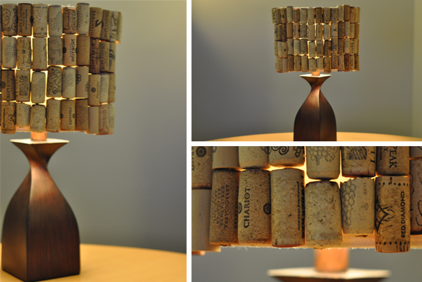 Trash hacker wine cork lampshade trash backwards blog photo earth911 eco friendly diy wine cork lampshade by alexandra vietti aloadofball Images