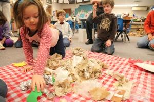 Classroom Waste Audits Are Fun, Photo © Liesl Clark