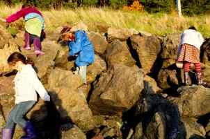 The man-made basalt armor of Crystal Springs. Plenty of Plastics in those boulders. Photo © Liesl Clark