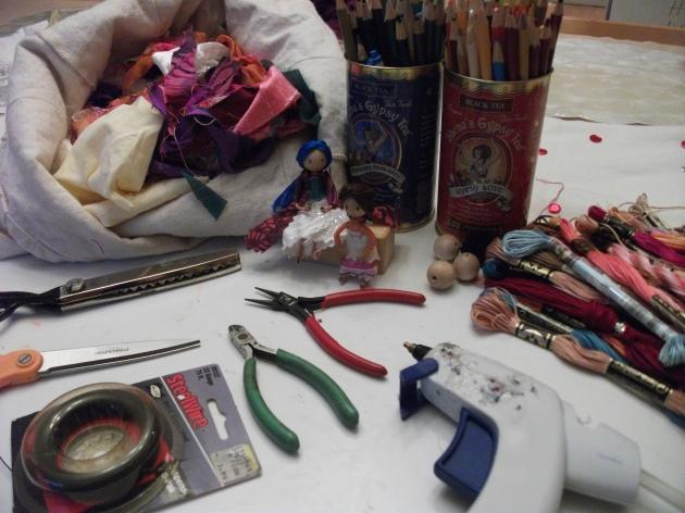 Materials for DIY Tiny Dolls