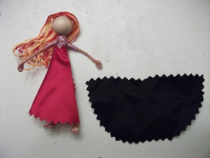 Doll with One Possible Basic Skirt Shape