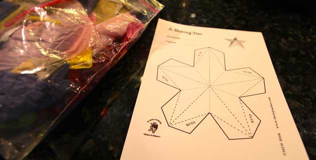 Free PDF Printable Star Ornament at TheToymaker.com