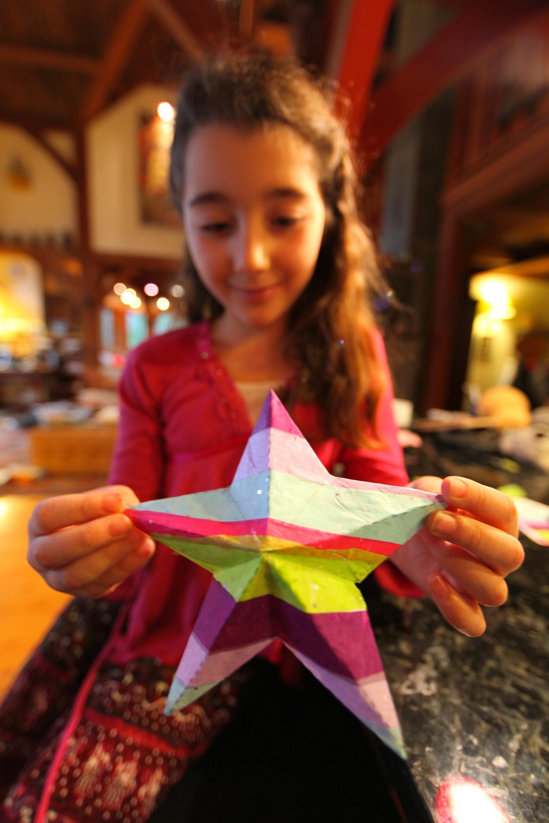 Finished Scrap Paper Star Ornament
