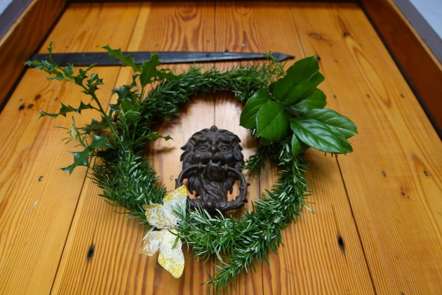 A Rosemary Wreath Smells Lovely. Photo © Liesl Clark