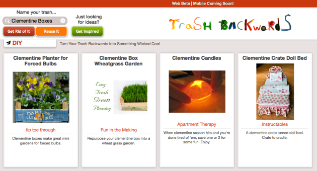 Click Through for Clementine Box Reuses at Trash Backwards
