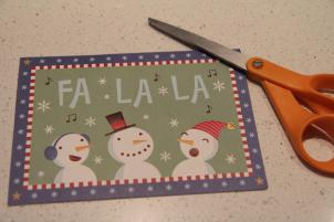 Christmas Card Gift Tag Step 1 © Jenny Lange