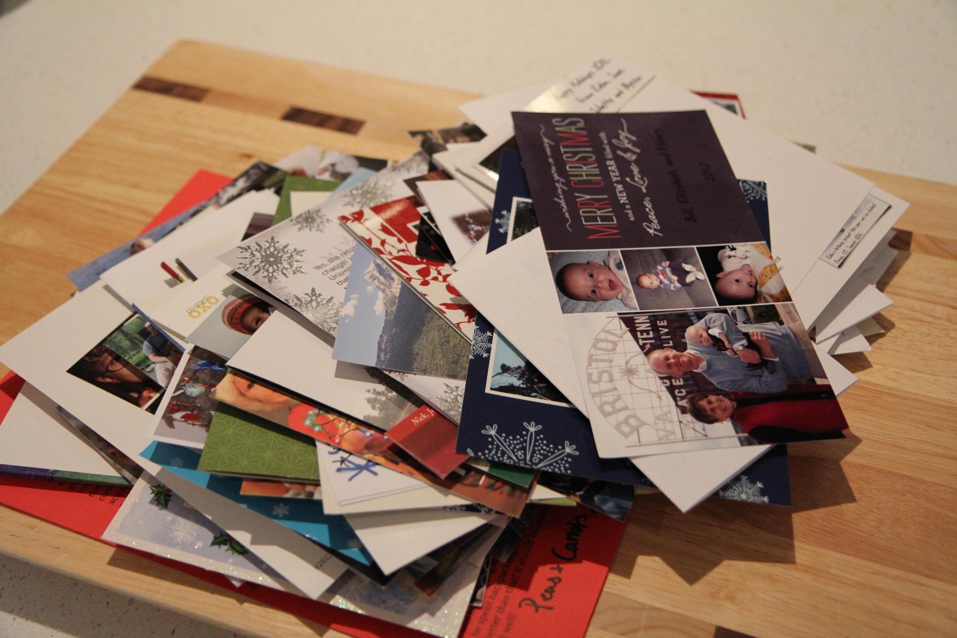 Mound of Christmas Cards © Jenny Lange