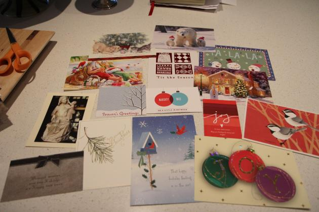 Gift Tags from Christmas Cards © Jenny Lange