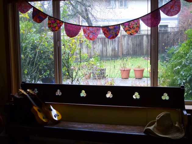 Living Room Bunting in the Winter Sun