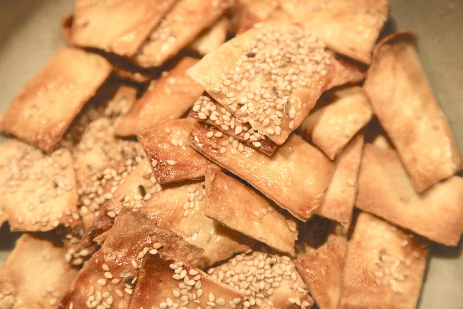 Homemade Seed Crackers, Recipe at Slim-Shoppin. Photo © Liesl Clark