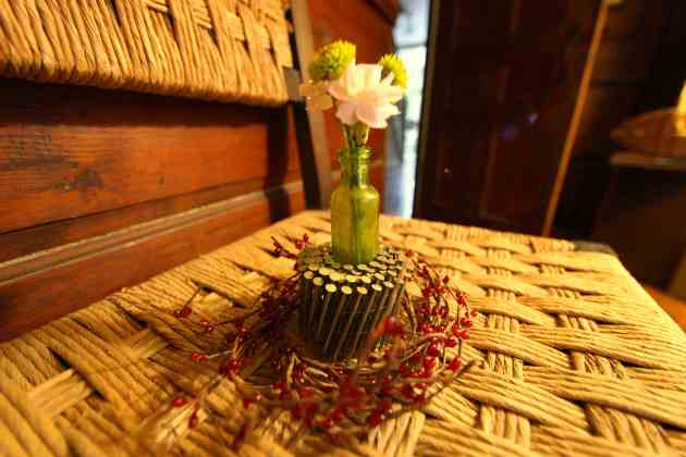 Roll of Nails Flower Vase Arrangement. Photo © Liesl Clark