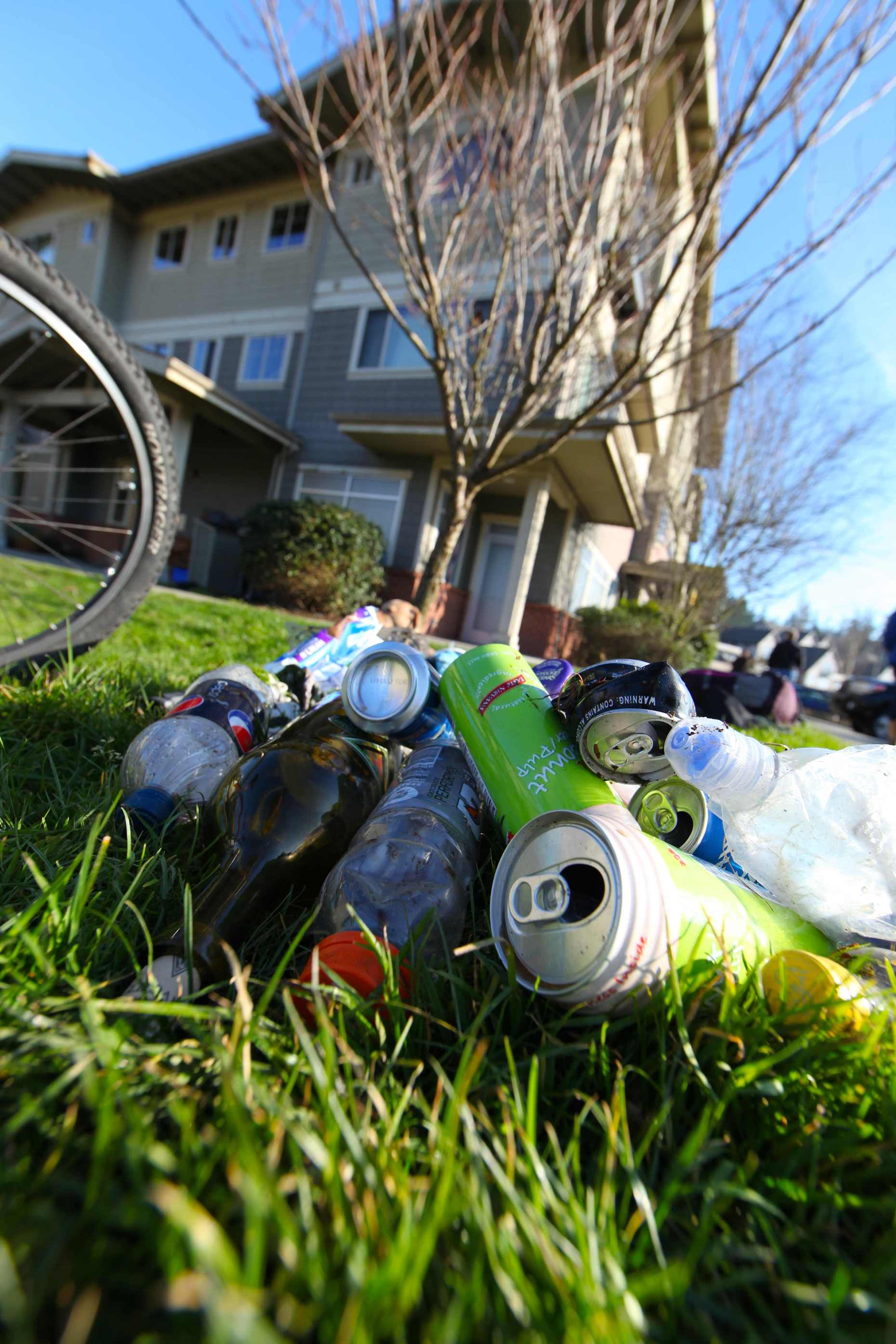 We Were Able to Recycle These Right Across From the Convenience Store. Photo © Liesl Clark