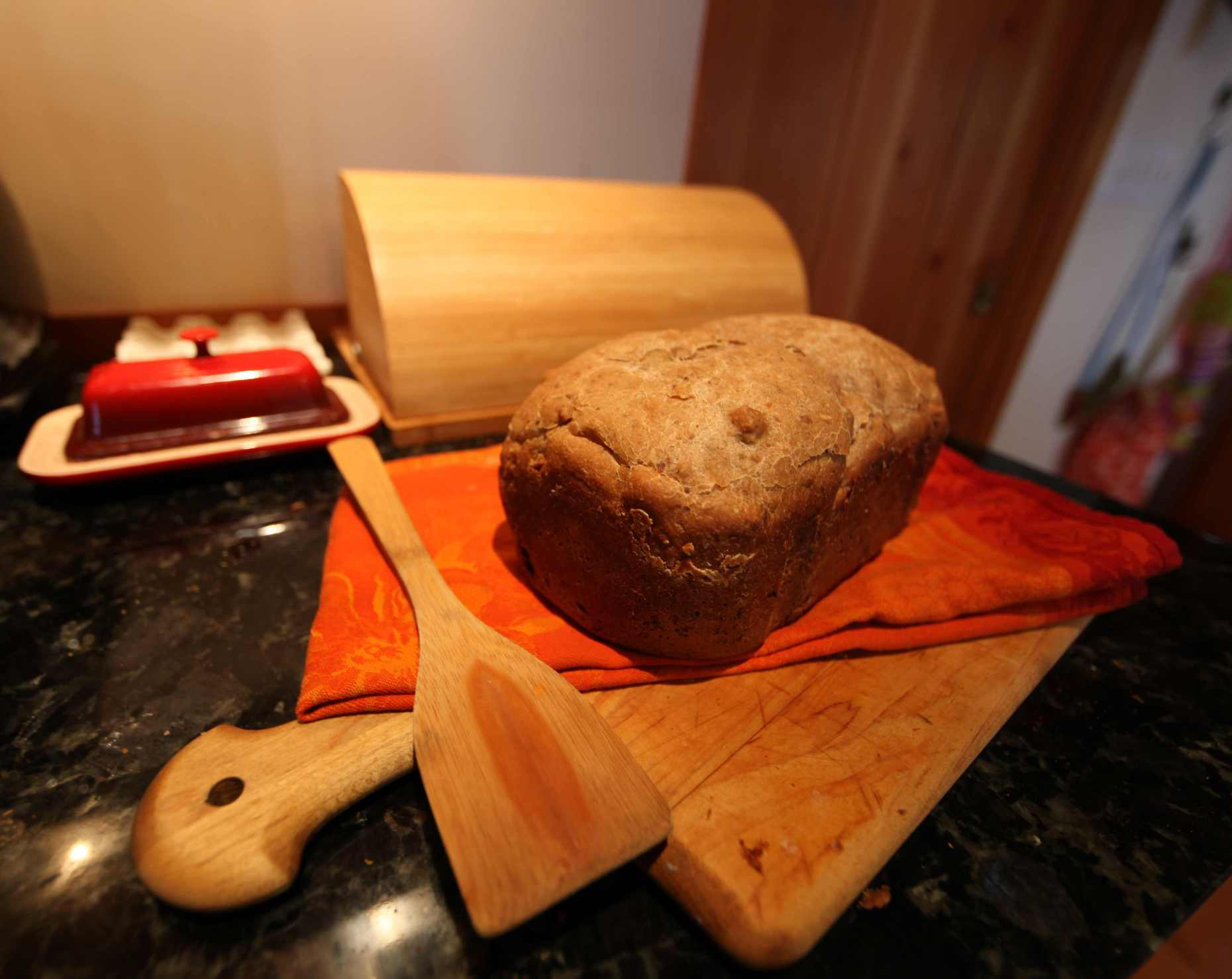 An artisan-style bread from a bread-maker that will please all. Photo © Liesl Clark