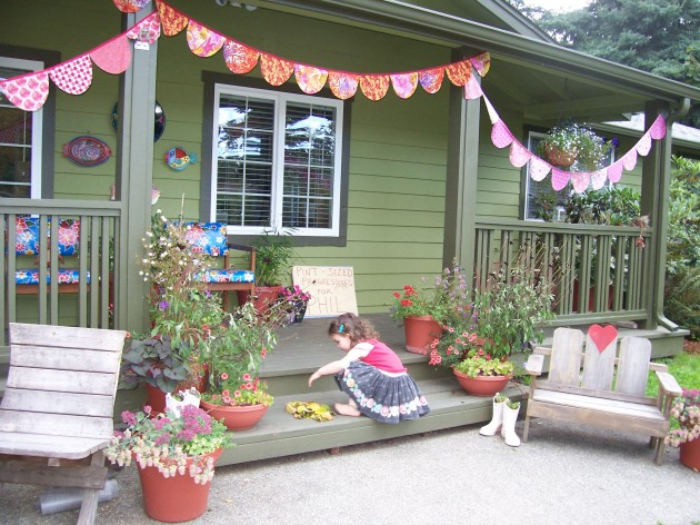 Front Porch with Bunting