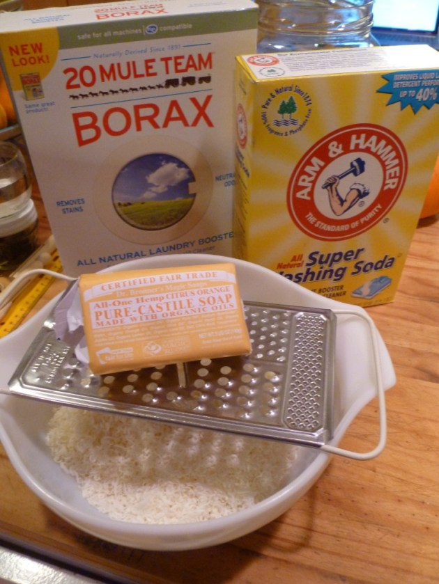 Ingredients For DIY Laundry Detergent. Photo © Rebecca Rockefeller