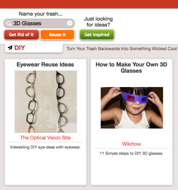 Click Through For Reduce, Reuse, Recycle Ideas For 3D Glasses at Trash Backwards