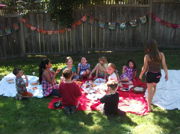 Backyard Birthday Party Bunting