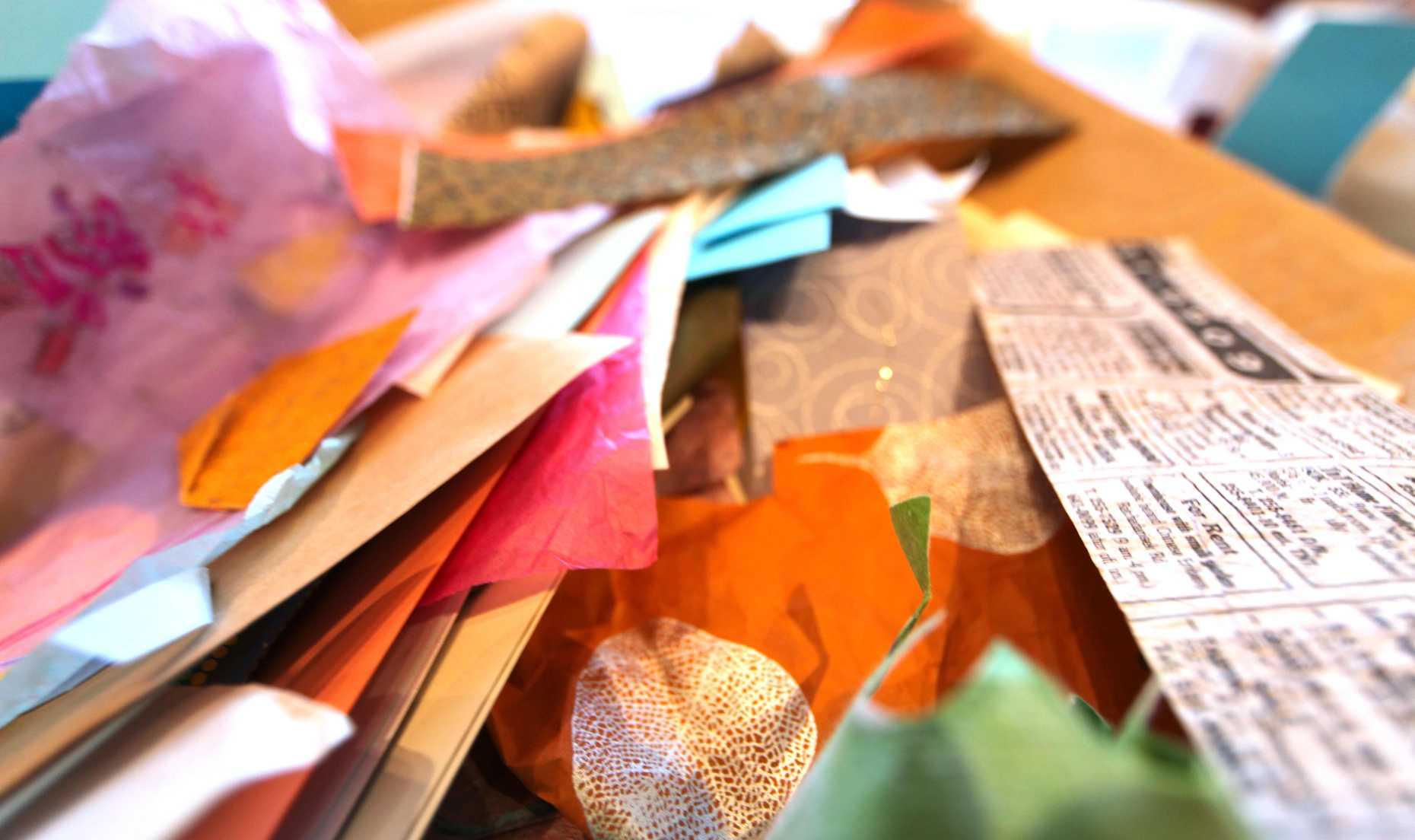 Scraps of Paper. All You Need to Make an Original Valentine. Photo © Liesl Clark