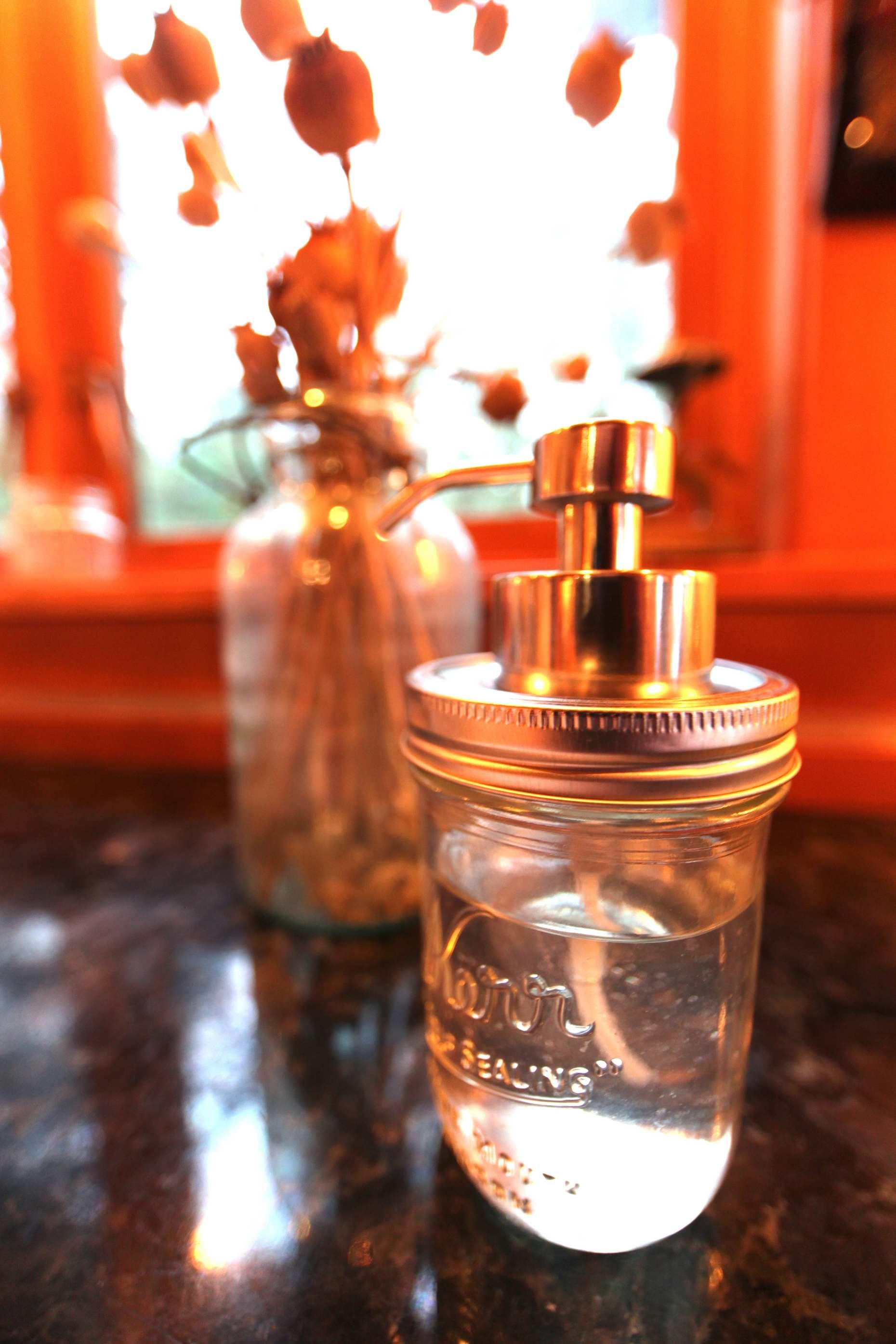 DIY Soap Dispenser, Ready For Use. Photo © Liesl Clark