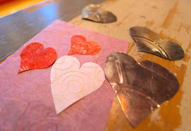Hearts of Paper and Hearts of Tin. Photo © Liesl Clark