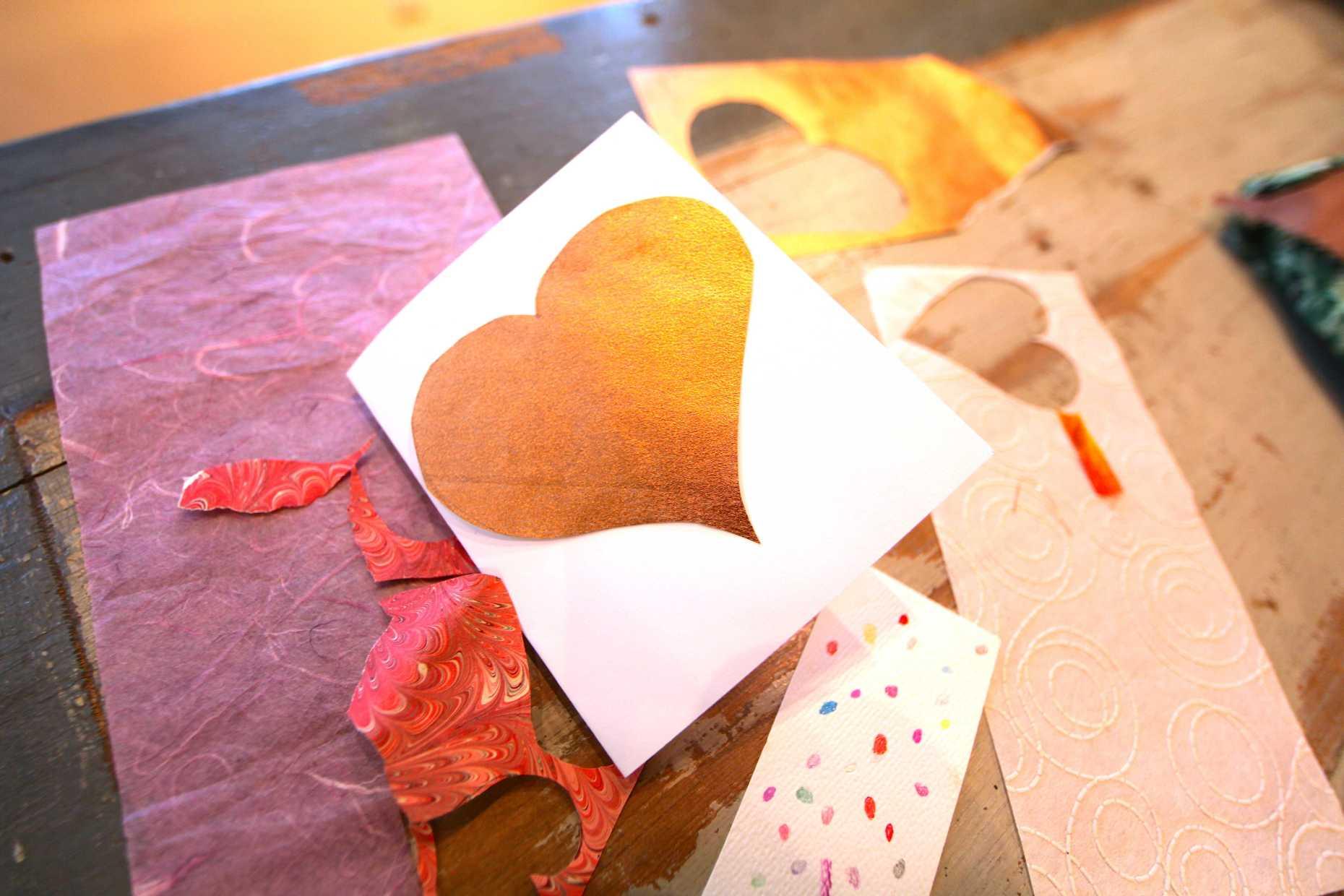 Handmade Paper Valentines, An Original Folk Art. Photo © Liesl Clark
