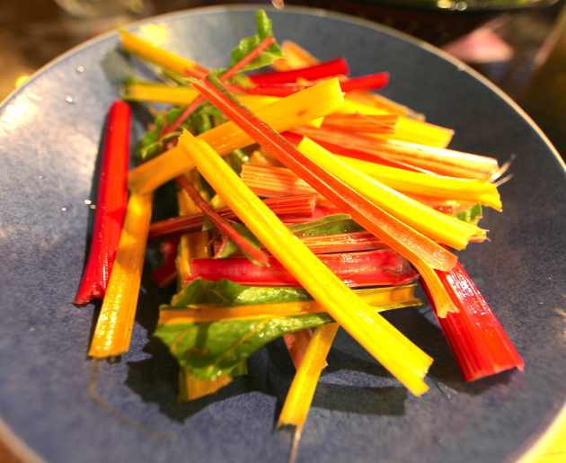 Chard Stalks in a Bowl Awaiting Further Instructions. Photo © Liesl Clark