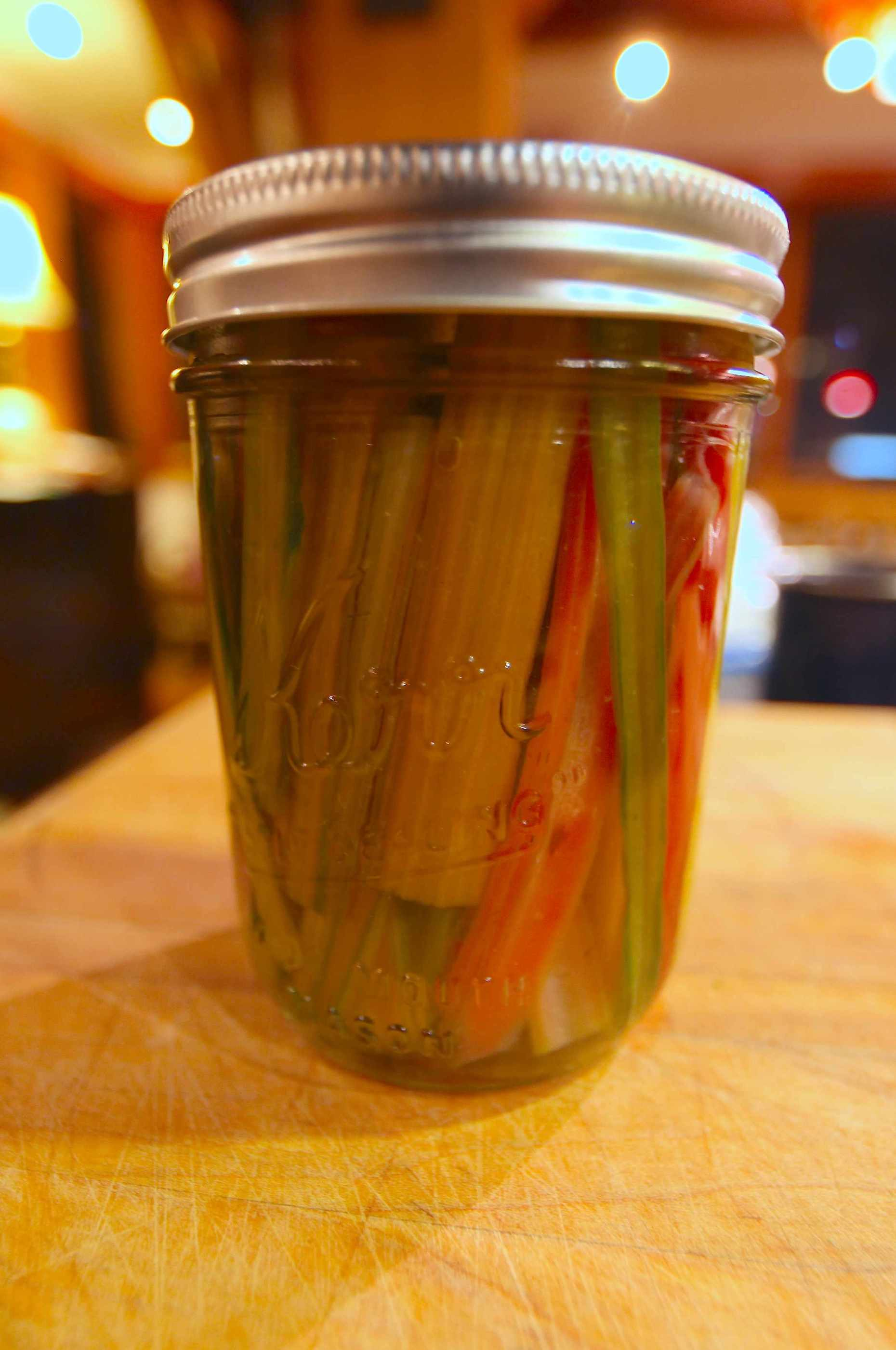 Pickled Chard Stalks. Photo © Liesl Clark