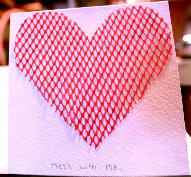 """Mesh With Me"" Clementine Bag Turned Valentine."