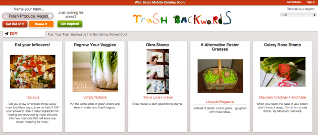 Click Through for Fresh Produce Reuse Ideas at Trash Backwards