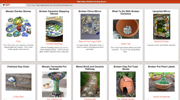 Click through to see a vision of the future: Reused broken ceramics.