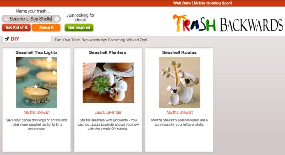 Click Through For Seashell Reuses at Trash Backwards