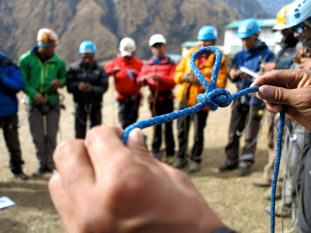Climbing Rope at Khumbu Climbing Centre Photo © Ted Hesser