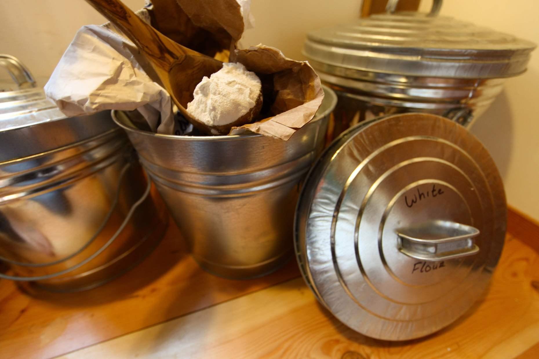 Flour Procured From the Organic White Flour Bin. Photo © Liesl Clark