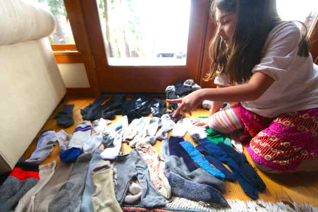 Sorting Socks is Sorta Fun. Photo © Liesl Clark