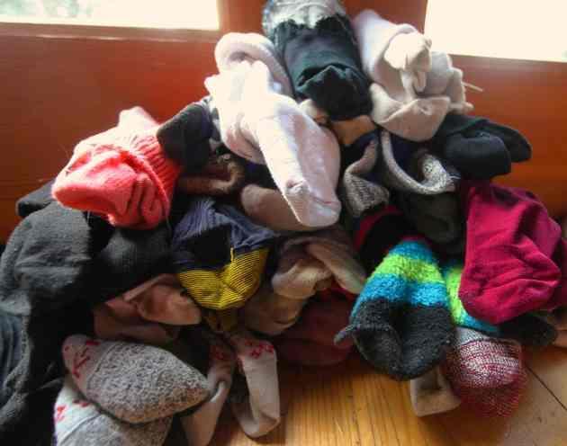 Reunited Socks After Nearly a Year. Photo © Liesl Clark