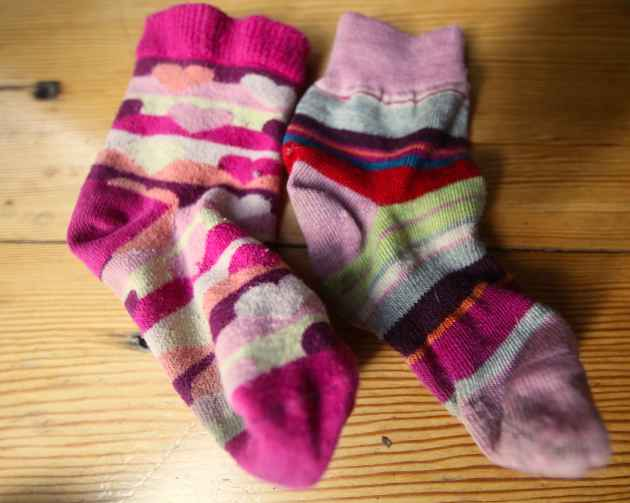 Do you approve of this union. Speak now or forever hold your peace. Hey, mismatched socks are in! Photo © Liesl Clark