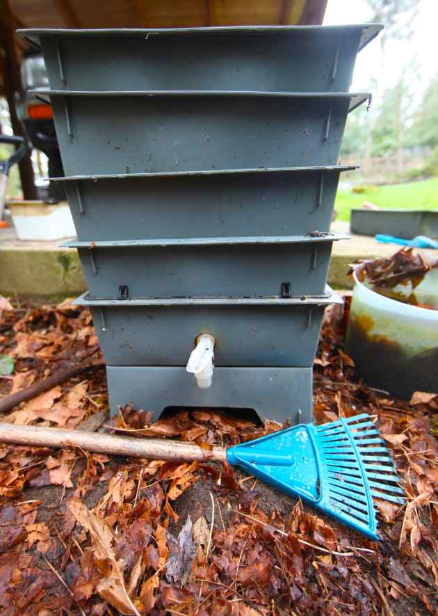 "My prized worm bin, acquired through Freecycle. Our wormies have been creating ""black gold"" for us for the past 5 years. This acquisition was worth it. Photo © Liesl Clark"