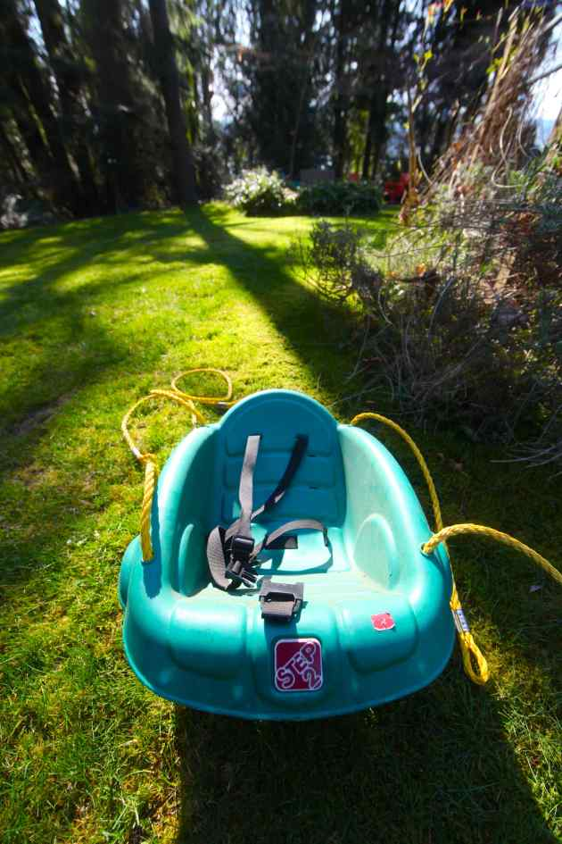A Toddler Swing Was Ready For a New Home, So We Freecycled It. Photo © Liesl Clark